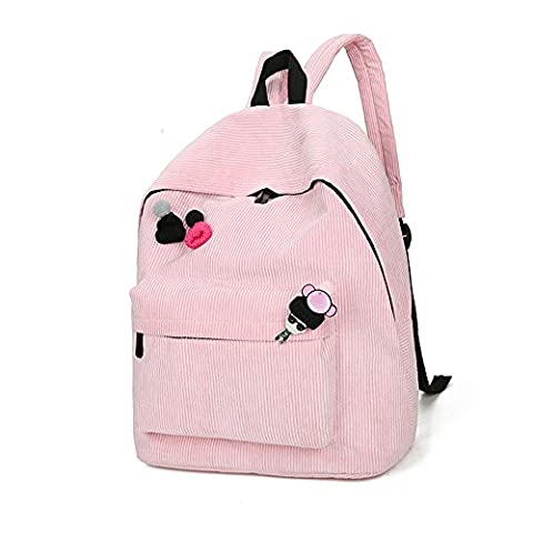 Hmlai Women Girls Corduroy Backpack Girl School Fashion Daypack Shoulder Bag Rucksack Travel Bags - Corduroy Womens Shoulder Bag