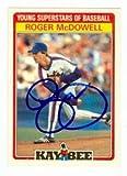 Autograph Warehouse 89329 Roger Mcdowell Autographed Baseball Card New York Mets 1986 Kay Bee No. 21