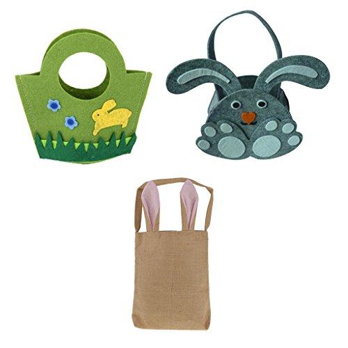 Jili Online 3 Pieces Easter Festival Bags Lovely Bunny Baske