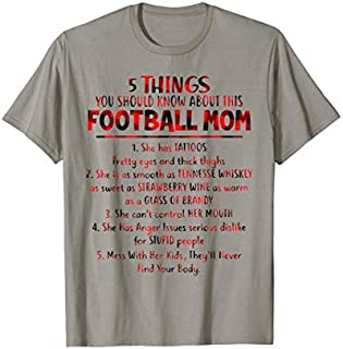 5 Things You Should Know About This Football Mom T-shirt | Size S - 5XL