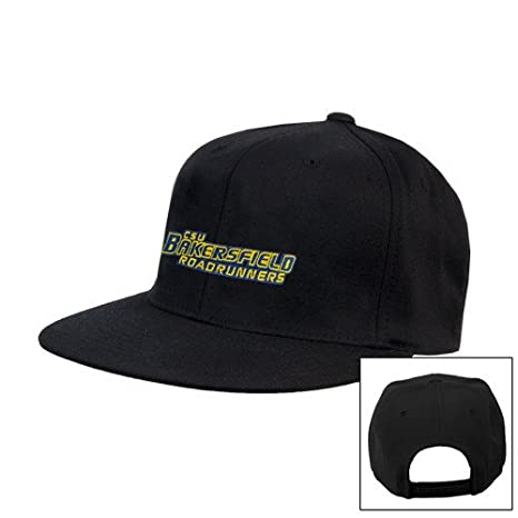 be97f7d7bf165 Image Unavailable. Image not available for. Color  Cal State Bakersfield  Black Flat Bill Snapback Hat   ...