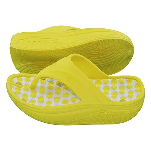 brandsseller - Sandalias de vestir de Material Sintético para mujer amarillo