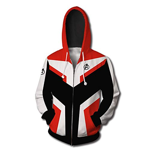 Fashion Hoodie Avengers 4 Quantum Hoodie Cosplay Costume (red, S)