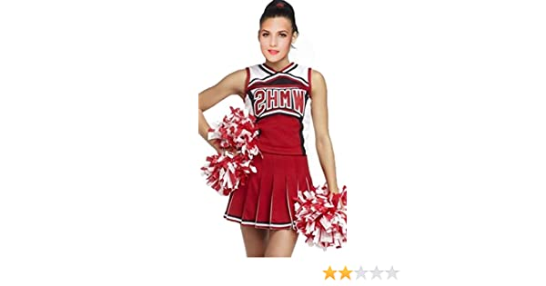 2bda20a89e Amazon.com: Sexy Cheerleader Costume - Women Sport Red Basketball Cheerleader  Costumes: Clothing