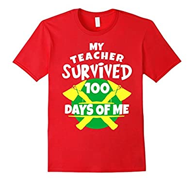 My Teacher Survived 100 Days of Me Funny 100th Days T-Shirt