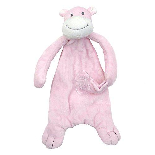 Applesauce Nummy Blanket Pacifier Holder, Hippo