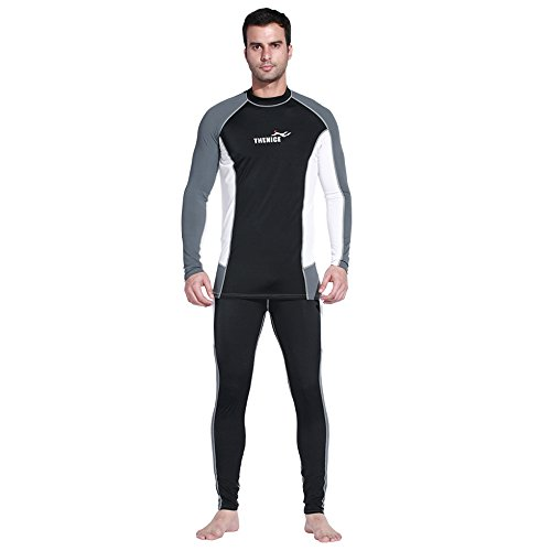 SWISH Bodysuit Sports Skins Sea Surf For Men Women Jumpsuit Super-stretch Diving Snorkeling Swimming Full Wetsuits UPF 50+Protection-Lycra (Black Pant Set, M) Super Stretch Full Wetsuit