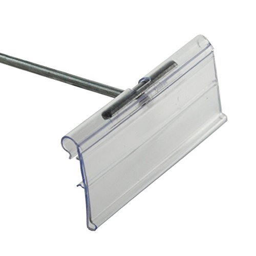 Case of 50 Clear Plastic Flip Scan Label Holder 3''W x 1.25''H