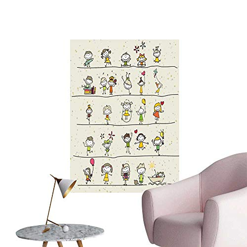 SeptSonne Wall Stickers for Living Room Draw Cartoon for sale  Delivered anywhere in USA