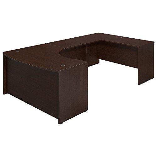 (Bush Business Furniture Series C Elite 60W x 43D Right Hand Bowfront U Station Desk Shell in Mocha Cherry)