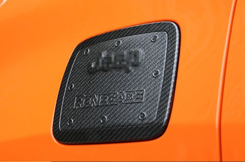 Nicebee ABS Carbon Fiber Fuel Tank Cover Gas Lid Filler Cap Trim Decoration fit For Jeep Renegade - Monitor Tank Fuel