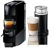 Nespresso Essenza Mini Original Espresso Machine Bundle with Aeroccino Milk Frother by Breville, Piano Black (Renewed)