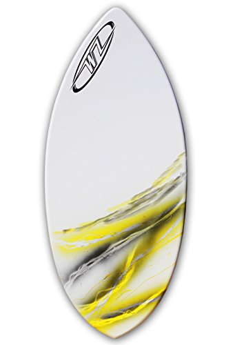 Wave Zone Rip - 43'' Fiberglass Skimboard for Riders up to 145 Lbs - Yellow by Wave Zone Skimboards
