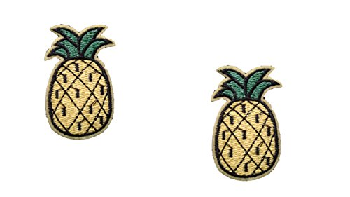 ron On Patch Fabric Applique Fruit Food Motif Children Ananas Decal 2.4 x 1.5 inches (6 x 3.8 cm) ()