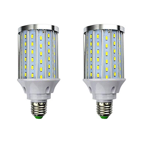 MD Lighting 30W E27 LED Corn Light Bulbs(2 Pack)- 108 Leds 5730 SMD 2700 LM COB Light Lamp Ultra Bright Daylight White 6000K LED Bulb 240 Watt Equivalent for Backyard Barn Outdoor Large Area, 85V-265V