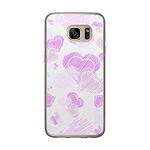Loud Universe Samsung Galaxy S7 Love Valentine Files Valentine 123 Printed Transparent Edge Case - White/Purple