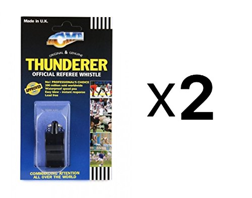 Tide Rider Acme Thunderer Plastic Referee Coach Police Loud Whistle 559 (2-Pack)