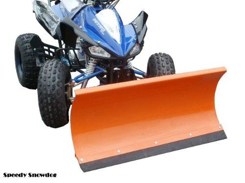 7,5 PS Alarm // Schneeschild Schneer/äumer Quad Speedy ATV 125 ccm // Mit 1m breitem Schneeschieber // E-Starter Automatik-Getriebe // Doppel-Sportauspuff // Bis 65 km//h // Fernbedienung