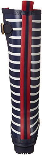 Stripe Navy french Stivali Joules Blu Gomma Print Welly Di Donna zwU81q