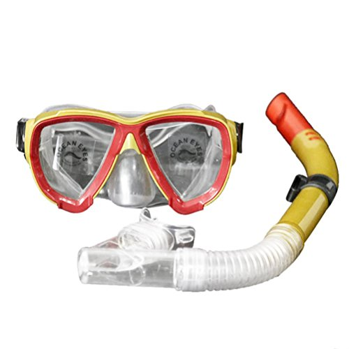 Lywey Adult Glass PVC Swimming Swim Diving Snorkeling Scuba Anti-Fog Goggles Mask & Snorkel Set (color #02) by Lywey