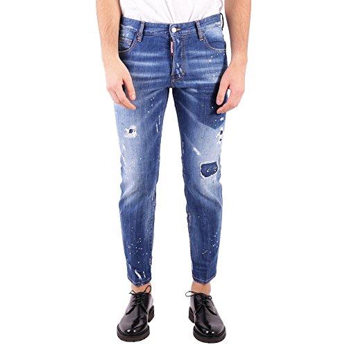 DSQUARED2 Men's S74lb0321s30342470 Blue Cotton Jeans (Dsquared2 Men Pants)