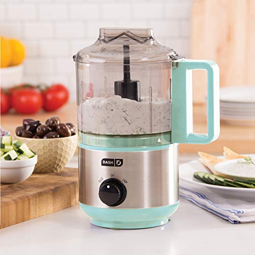 Dash DMFP100AQ Express Mini Food Chopper, 2 Cup, Aqua by Dash (Image #1)