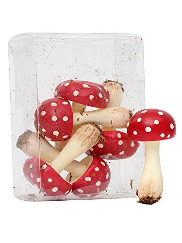 Confezione di 6funghi artificiali–rosso & bianco fungo CBI
