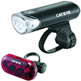 Cateye EL-135 and TL-LD130R Bicycle Headlight and Tail Light Combination