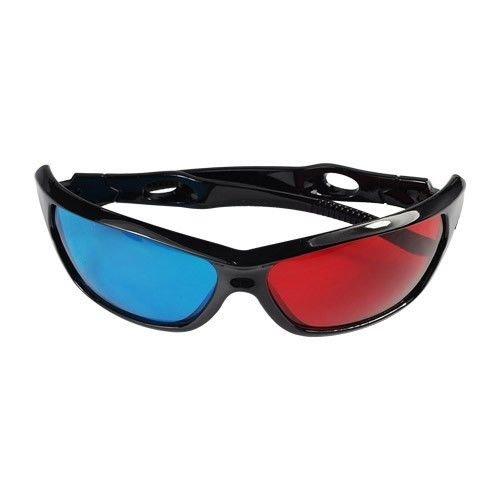 5PCS Red Blue Plastic Framed Dimensional Anaglyph 3D Vision Glasses Plasma TV Movie