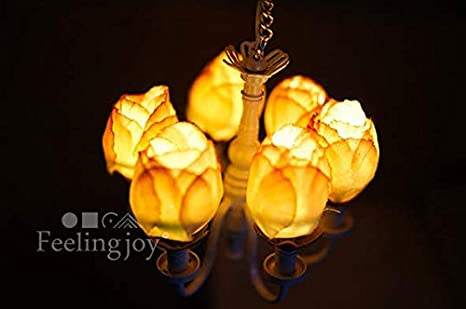 Dollhouse Miniature 1:12 Scale 12v Plastic Chandelier #Mh0612
