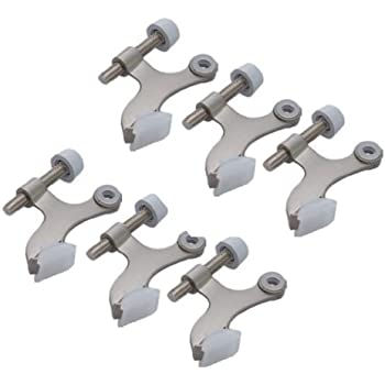 Amazon Com 6 Pack Hinge Pin Satin Nickel Door Stopper