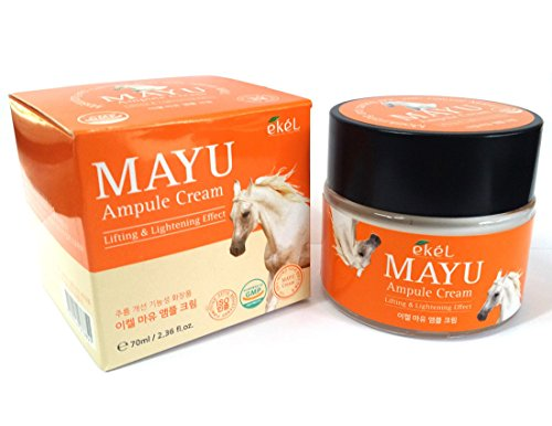 [EKEL] Horse Oil MAYU Ampule Cream 70ml / Lifting & Lightening Effect / Anti-wrinkle / Korean Cosmetics