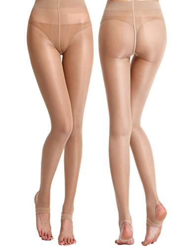 Begirlly-Ultra-Soft-Stirrup-Sheer-Pantyhose-Stockings-T-crotch-Tights-for-Womens-2-Pack
