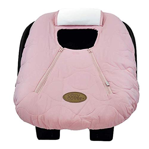 Cozy Cover Infant Car Seat Cover (Pink Quilt) - The Industry Leading Infant Carrier Cover Trusted by Over 5.5 Million Moms Worldwide for Keeping Your Baby Cozy & Warm ()