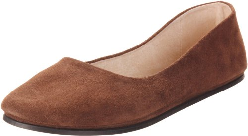 NY French Ballet FS Flat Women's Suede Chocolate Sole Sloop OEfvxEHwq