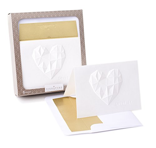 Hallmark Signature Blank Cards (Faceted Heart, 8 Cards with Envelopes)