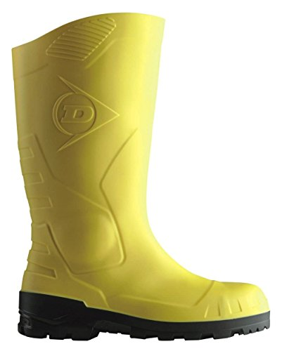 und H142011 Dunlop Long Shaft Boots mit Sicherheitsstiefel Stahlkappe Men's Bootees Boots Unlined S5 amp; Black Yellow Stahlsohle Rubber tPwrwqfY