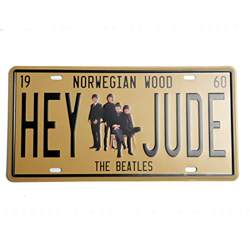 Retro Vintage Embossed Tin Signs,The Beatles, Metal Posters Wall Decor for Home Garage Dorm Man Cave, 6'x12'/15x30cm