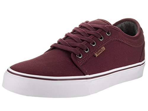 Vans Men's Chukka Low (10 Oz. Canvas) Port/White Skate Shoe 7.5 Men US
