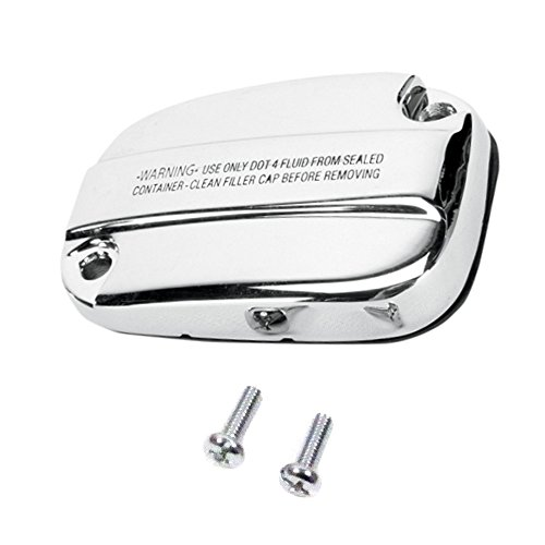Hill Country Customs Chrome Front Brake Master Cylinder Cover for 2008 and Newer Harley-Davidson Touring and Trike models -
