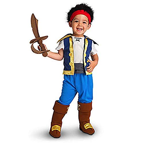 Disney Store Jake and the Neverland Pirates Costume 2t - 5t (3T 3 Toddler) -