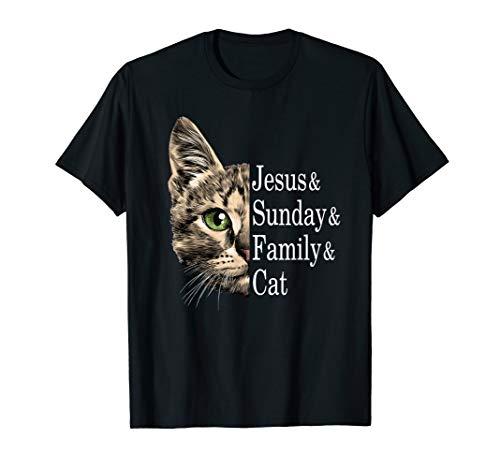 Jesus Sundy Family Cat Gift T-shirt (Sundy Best T Shirts)