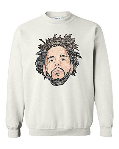 J COLE FACE COOL LYRICS SONG NAMES DESIGN T-Shirts Hoodies Tanks Crewnecks MWhite - Crewneck Custom Sweatshirt