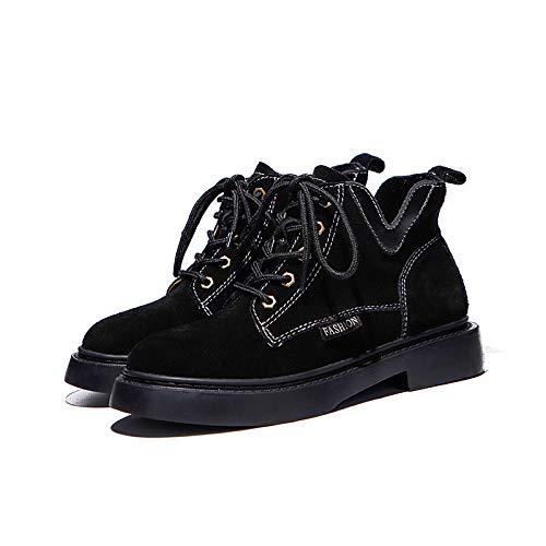 Mate Black Plana Otoño New Invierno Salvaje Estudiante Femenina Martin Hoesczs Cortas Moda E Botas Boots 4qRPw76