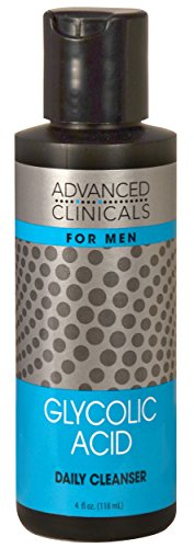 Advanced Clinicals Mens Facial Cleanser with Glycolic Acid.