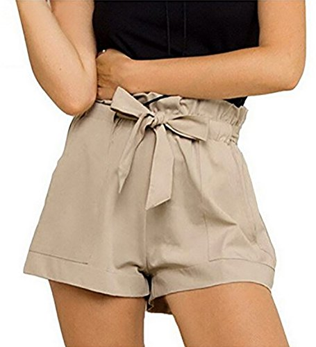 Women : Pleated Shorts Khaki - 5