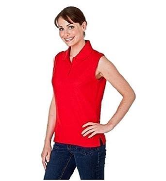 fd6cfdd898b72 Top Sport Ladies Sleeveless Pique Polo T Shirt Women s Sports Polo Shirt   Amazon.co.uk  Clothing