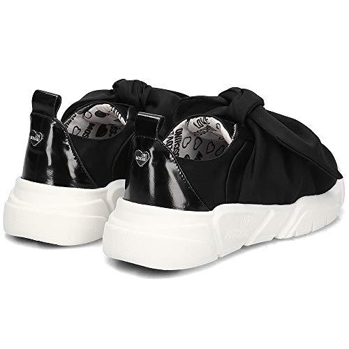 Negro 2019 Mujer Verano Zapatilla Raso Zapatos De Lazo Primavera Love Moschino fvwqZXxT5