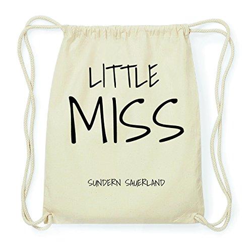 JOllify SUNDERN SAUERLAND Hipster Turnbeutel Tasche Rucksack aus Baumwolle - Farbe: natur Design: Little Miss