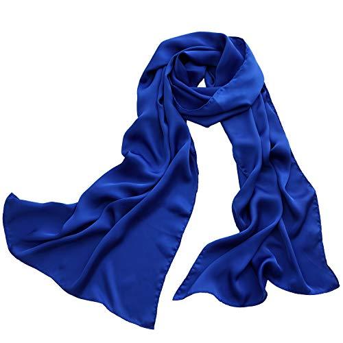 M.Picchu Polyester Silk Scarfs for Women, Soft and Lightweight Pashmina, Wrist Head Scarves Fashion Square Neckerchief
